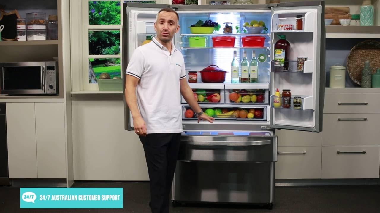 Haier hfd635wiss 633l french door fridge overview appliances haier hfd635wiss 633l french door fridge overview appliances online youtube rubansaba