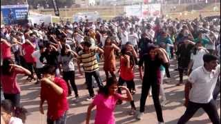 IIIT Hyderabad Flash Mob Gachibowli Stadium Felicity 2014