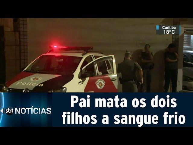 Homem mata os dois filhos e tenta cometer suicídio em São Paulo | SBT Notícias (05/03/19)