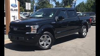 2018 Ford F-150 Lariat Sport  Diesel SuperCrew Review| Island Ford