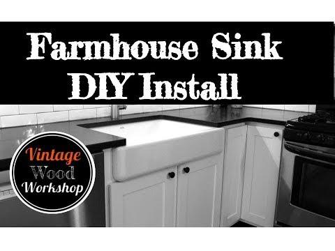 Installing a Kohler Farmhouse Sink. DIY. How To. Kitchen Remodel #4