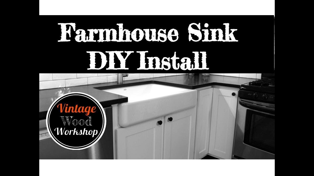 installing a kohler farmhouse sink diy how to kitchen remodel 4