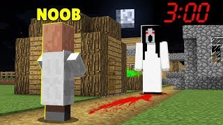 SCARY MONSTER SCARED NOOB AT NIGHT! BATTLE VILLAGERS NOOB vs PRO ! Challenge in Minecraft Animatoin!