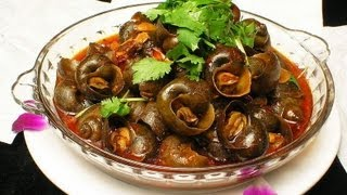 Recipe - Fried Snails (nathala fry) Recipe With English Subtitles