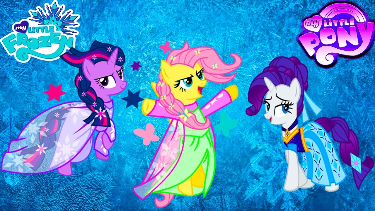 My Little Pony Mane 6 Transform Into Princess Elsa And