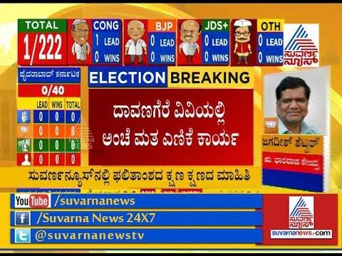 Karnataka Election Results Live : Counting Of Postal Ballots Begins In Davanagere