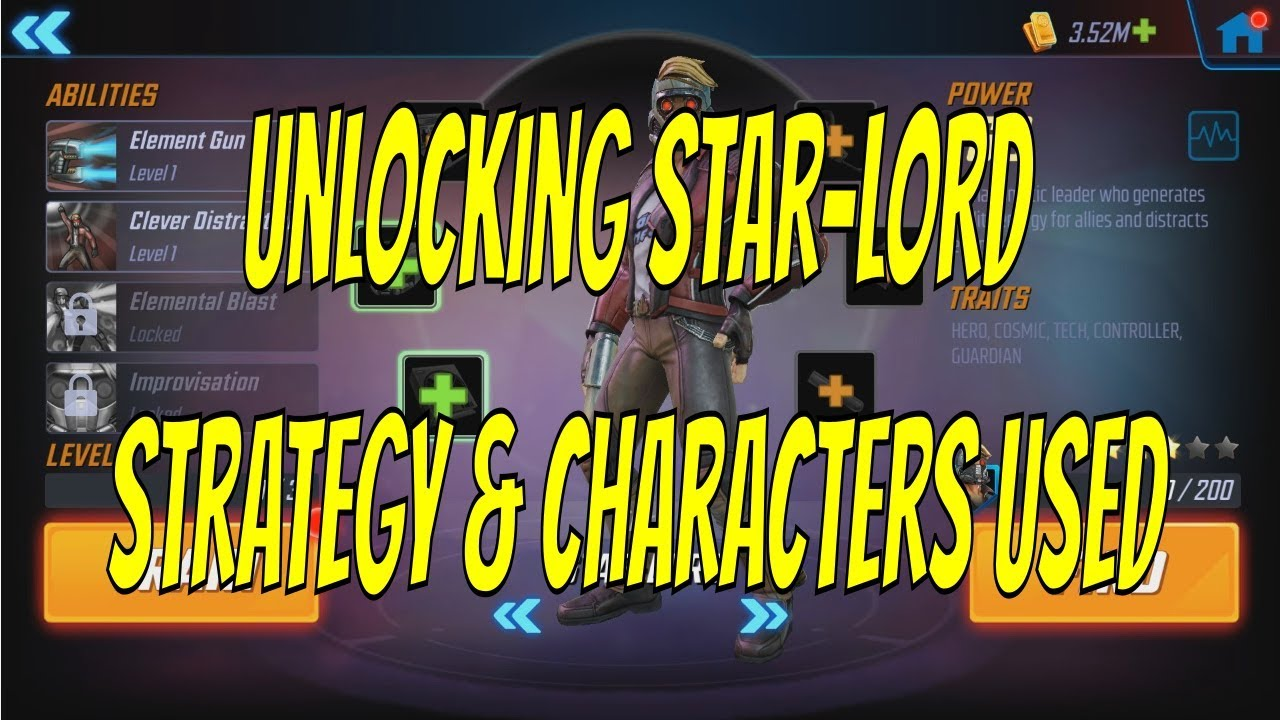 Unlocking Star-Lord: Strategy and Characters Used For Tier 5 - Marvel  Strike Force