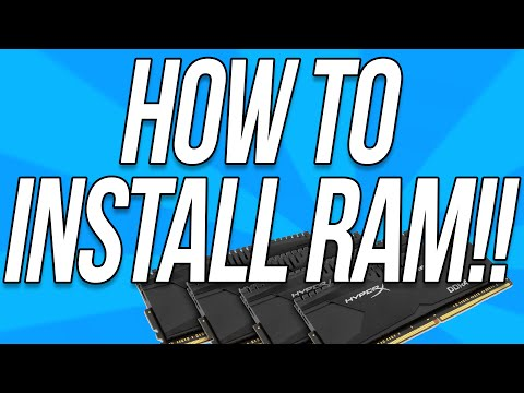 How To Install RAM In A PC (Give Your Computer More RAM!!)