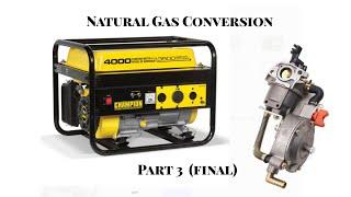 Part 3 (Final) - Converting Champion Generator to Natural Gas or Propane NG LP