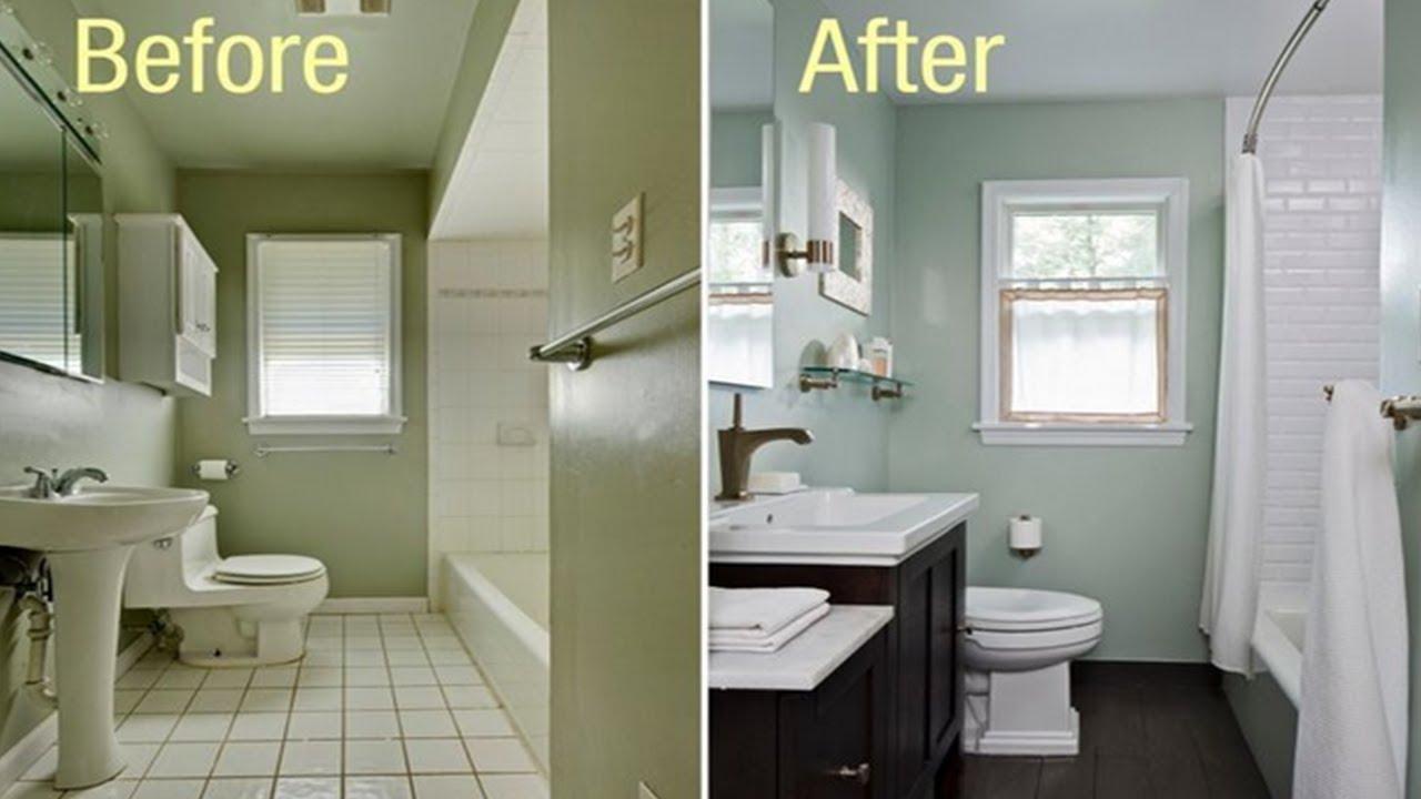 Small Bathroom Ideas On A Budget - YouTube