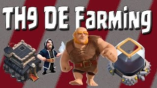 Clash of Clans - How I Farmed 100k Dark Elixir in 6 Hours! - TH9 DE Farming Strategy for any League!