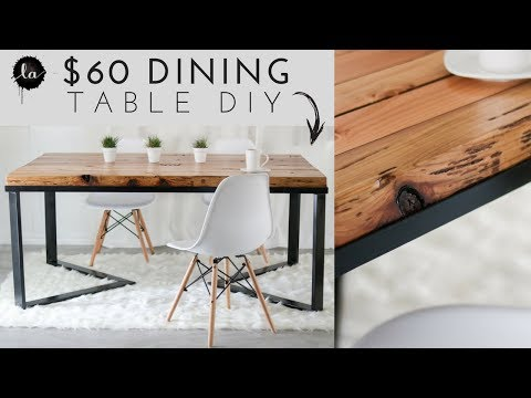 OUR DIY Scandinavian Dining table | Wood & Metal | Recycled Wood