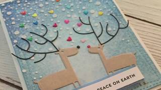 Snowy Reindeer Christmas Card / MFT Stamps / Simon Says Stamp