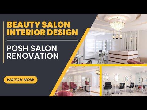 Beauty Salon Interior Design Posh Salon Renovation Youtube