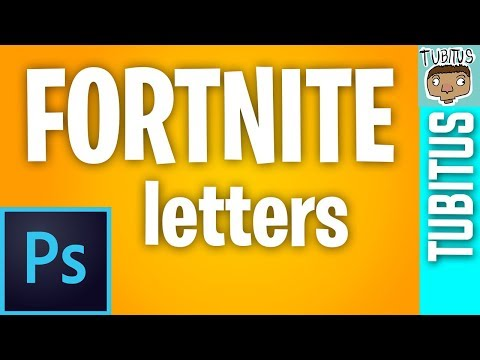 How To Use The Fortnite Letter Font In Adobe Photoshop