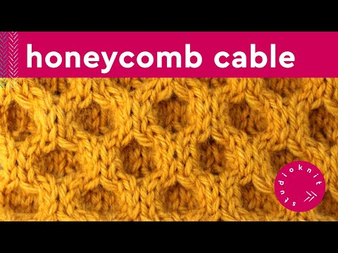 HONEYCOMB CABLE Knit Stitch Pattern