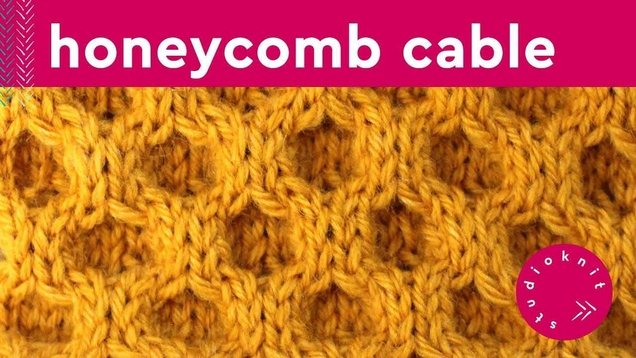 HONEYCOMB CABLE Knit Stitch Pattern - YouTube