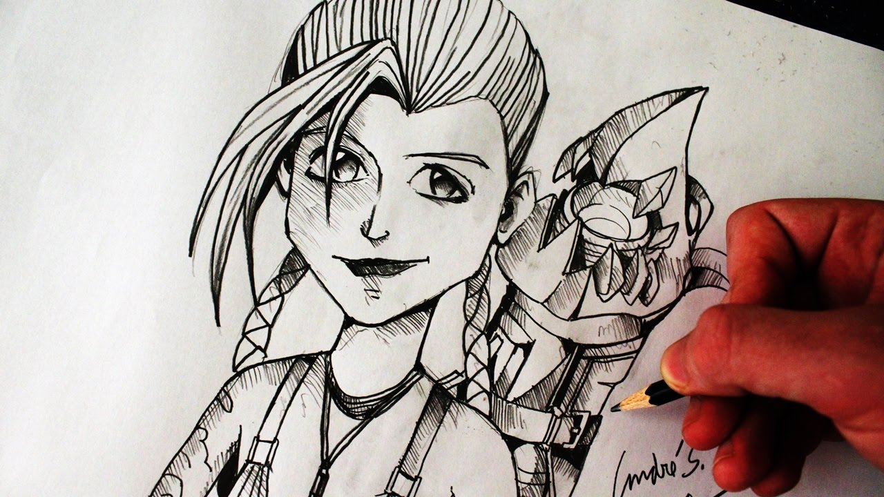 Como Desenhar A Jinx League Of Legends How To Draw Jinx Lol Campeões 1