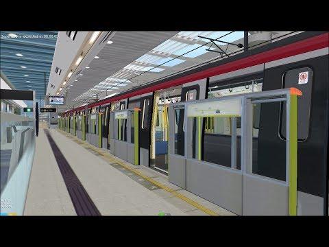 OpenBVE HD: Hong Kong MTR South Island Line CNR S-Train Station Action (12/30/17)