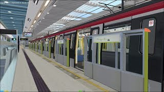 Gambar cover OpenBVE HD: Hong Kong MTR South Island Line CNR S-Train Station Action (12/30/17)