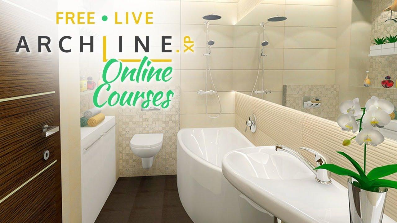 Bathroom Design Archline Xp Preliminary Interior Design Course 3 Youtube