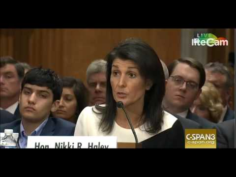 Sen. Tim Kaine Questions Nikki Haley, Schools Her on Iran Nuke Deal (1/18/17)