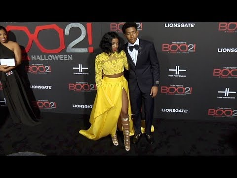 "DK4L De'arra and Ken ""Tyler Perry's Boo 2! A Madea Halloween"" World Premiere"