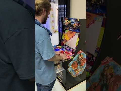Kyle enjoying his new Arcade1up Final Fight Mod from OG Video Games