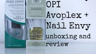 OPI avoplex + nail envy unboxing and review! Thumbnail