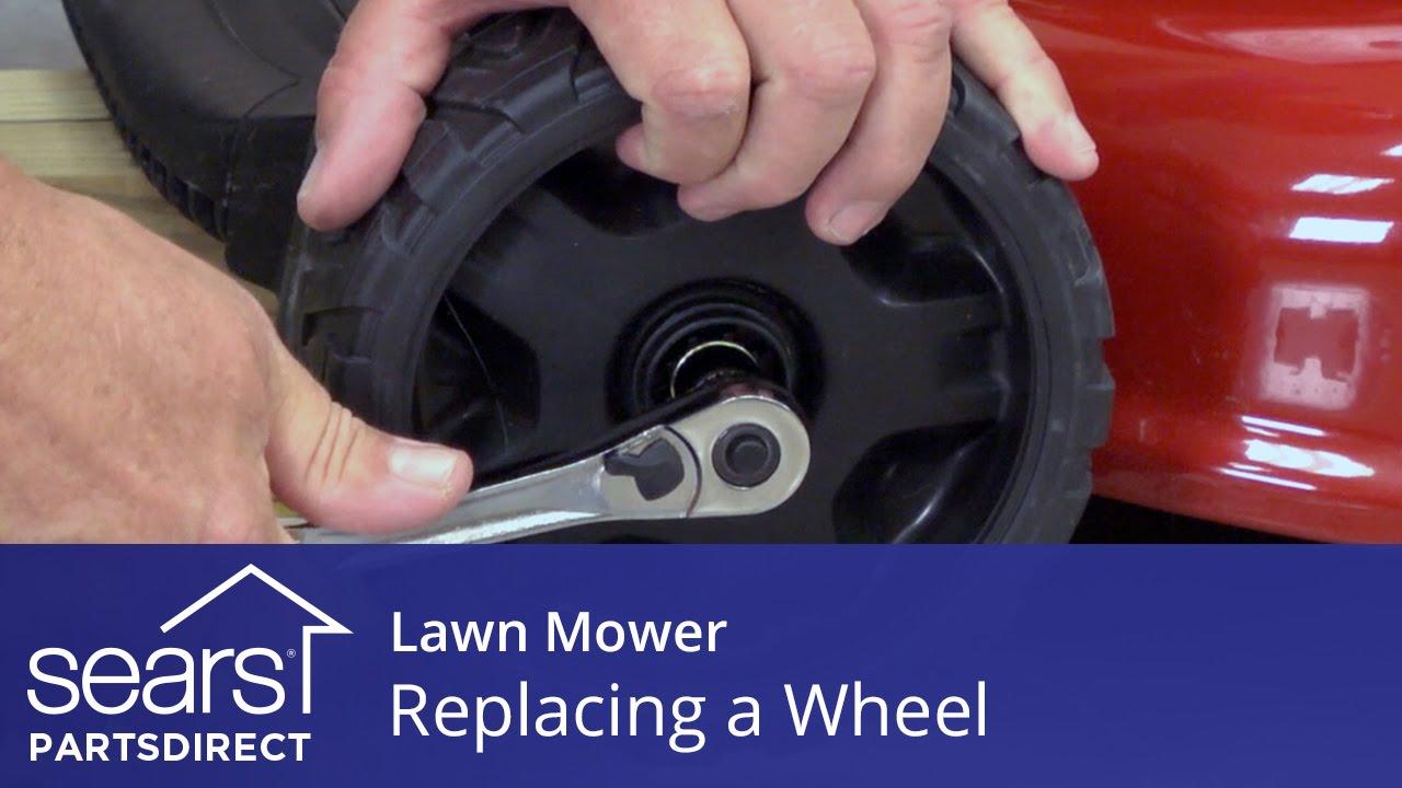 How to change a lawn mower wheel video   Walk-behind mower