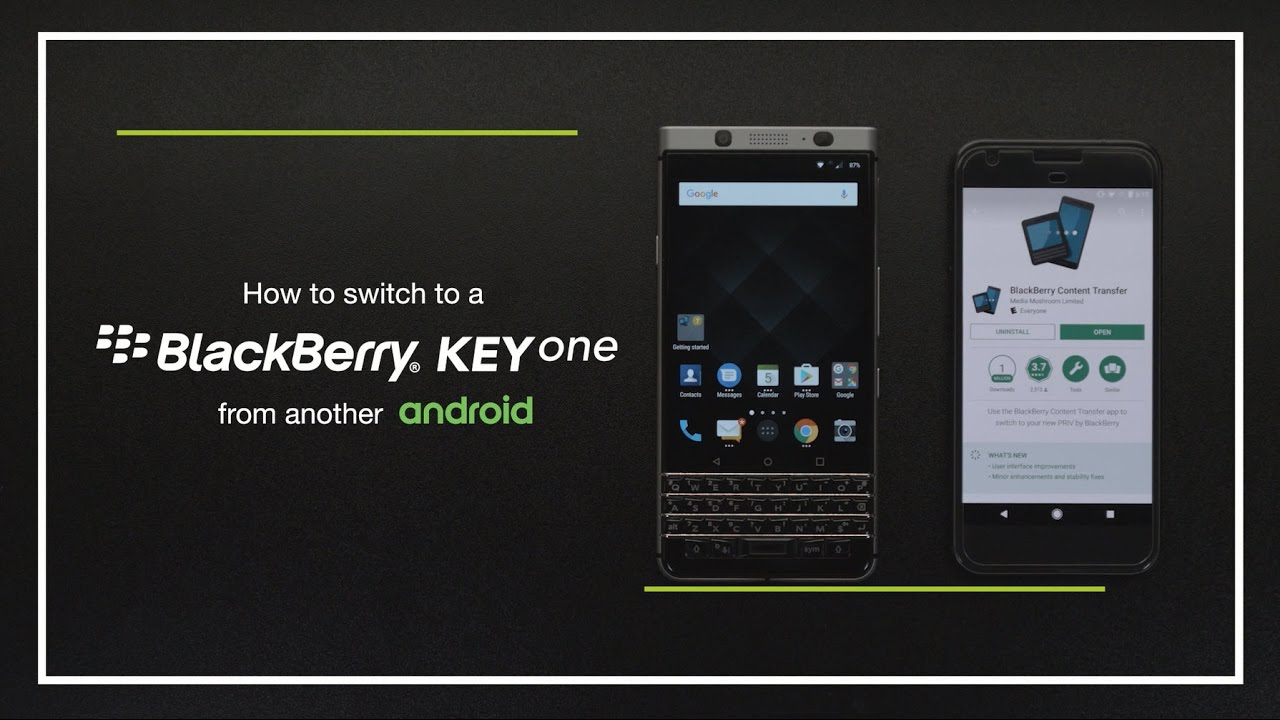 Switch from Android to BlackBerry KEYone