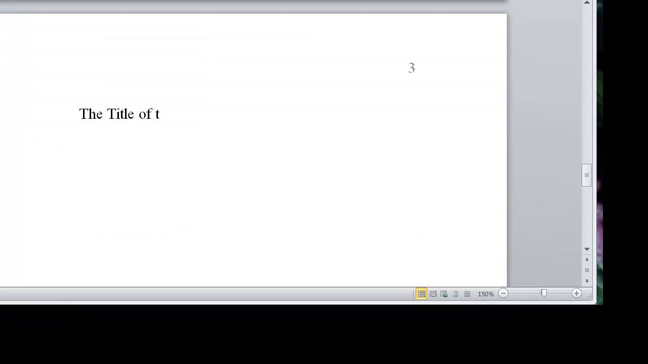 really fast set up apa style paper in microsoft word 2010