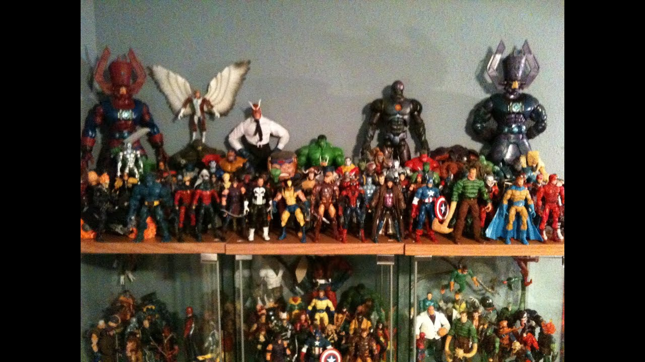 marvel legends collection update and room tour youtube