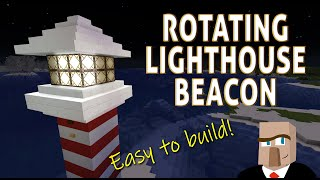 Minecraft ROTATING LIGHTHOUSE BEACON - Easy to Build!