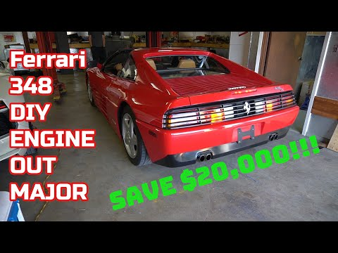 $25,000 MAJOR SERVICE?!?! Naa, let's DIY it! Ferrari 348 Major Part 1