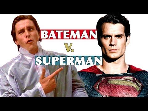 Bateman v Superman: Man of Steel Meets American Psycho Movie Mashup Trailer