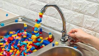 Lego Blocks Disaster / Crazy Stop Motion Cooking & ASMR