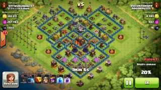 BM038 Balloons and Minions Strategy against champion level opponent - Clash of Clans CoC