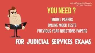 Model Paper, Online Mock Test, Videos Lectures, Civil Judge, Higher Judicial Services Exams
