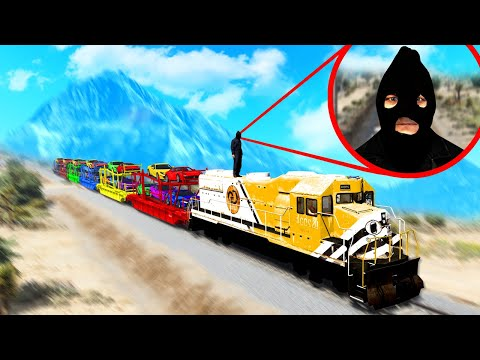 BILLIONAIRE SUPER CAR TRAIN HEIST in GTA 5!