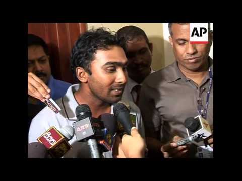 WRAP SLankan cricketers arrive home after Pakistan attack