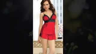 Satin and Lace Cami Short Set | Lingerie Fashion