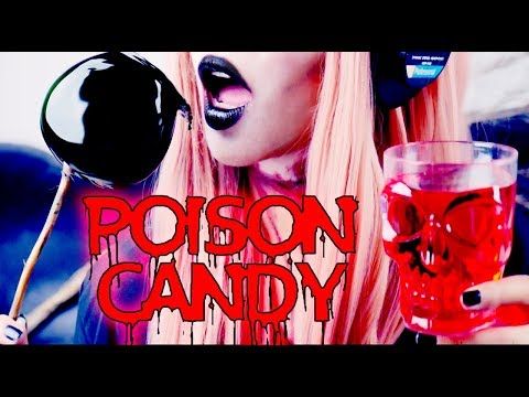ASMR Halloween Poison Candy Apple Blood *eating sounds*
