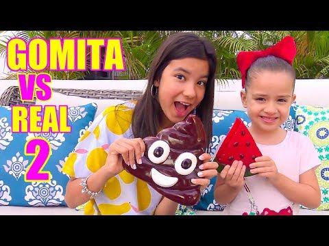 COMIDA DE GOMA VS REAL! | TV Ana Emilia