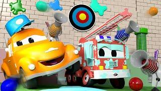 Малыш Френк - Автомойка Эвакуатора Тома в Автомобильный Город 💧 детский мультфильм