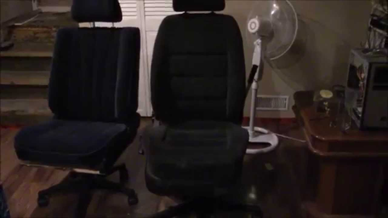making a car seat office chair youtube. Black Bedroom Furniture Sets. Home Design Ideas