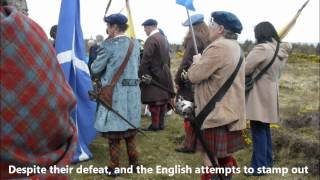 Culloden Memorial Service and battlefield April 2012.wmv