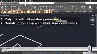 Polyline Command with all related Subcommand | Construction line command with all related subcommand