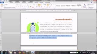 MOS WORD 2010 Spécialiste Test blanc PARTIE3 Réaliser par AB AITALI