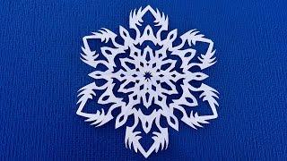 Мастер класс по снежинкам из бумаги. Как быстро вырезать снежинку на новый год